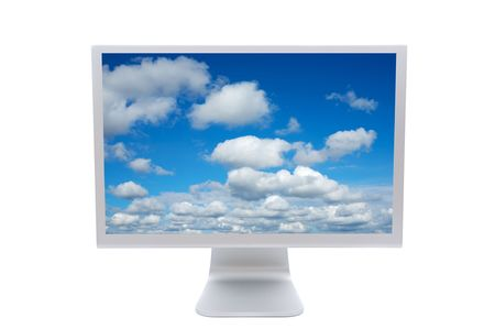 LCD computer monitor over a white background  photo