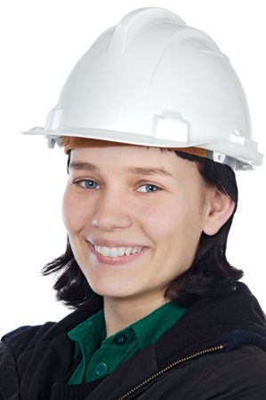 Attractive young engineer over a white background Stock Photo - 2245642