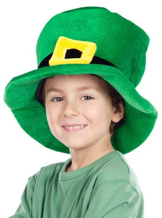 Child whit hat of Saint Patricks Day celebration photo
