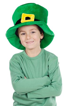Child whit hat of Saint Patricks Day celebration photo