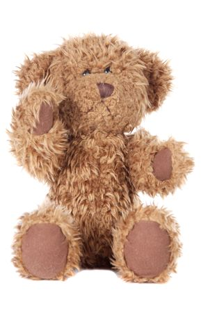 Teddy bear a over white background photo