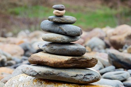 Rocks in balance - outdoor photography - photo