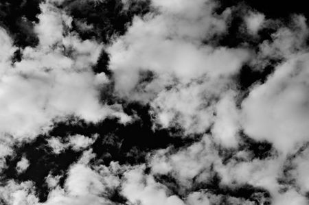 Photo of dramatic sky in bw whit coulds photo