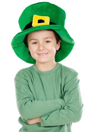 Child whit hat of Saint Patrick's Day celebration Stock Photo - 2606151