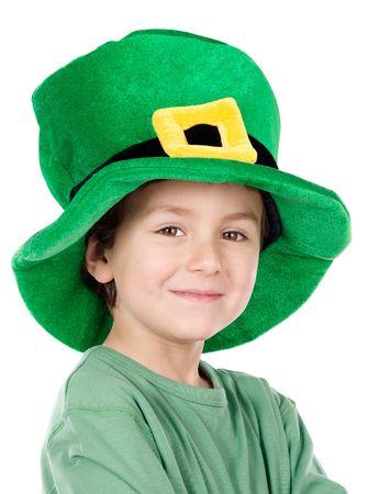 Child whit hat of Saint Patrick's Day celebration Stock Photo - 2638536
