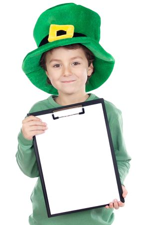 Child whit hat of Saint Patrick's Day celebration Stock Photo - 2638559