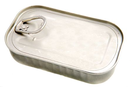 Old tin a over white background Stock Photo - 2712450
