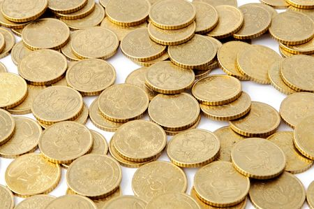 Pile of euro money - coins background - Stock Photo - 3146402