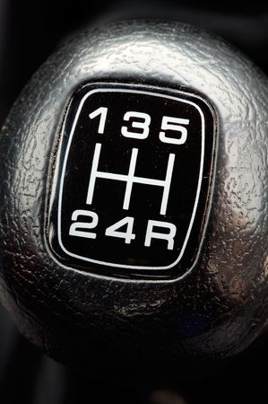 photo of a gear stick of a car - a over black background - photo