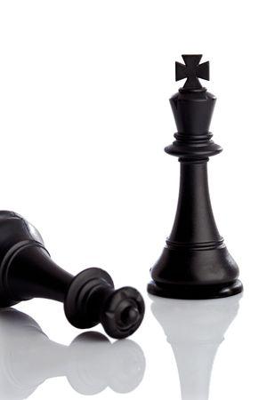 zdradę: Król wygrywa królowa z fokusem na króla - Shallow gÅ'Ä™biÄ™ pola
