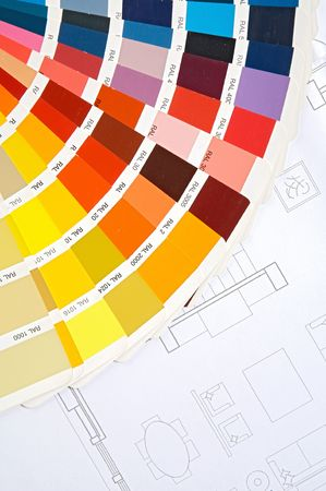 By choosing the colors of the new house on plans  photo
