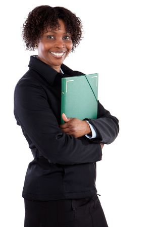Attractive business woman a over white background Stock Photo - 3671889