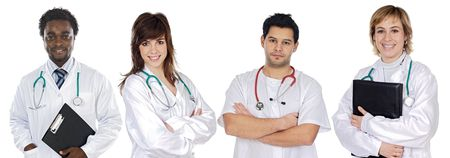 Medical team a over white background Stock Photo - 3712221