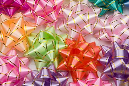 Wallpaper of many ribbons of different colours  photo