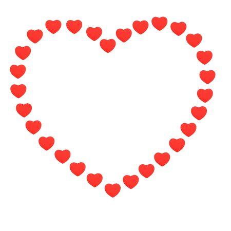 Un coraz�n de corazones para poner texto Foto de archivo - 3817864