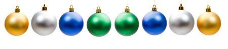 Many balls of christmas on a over white background photo