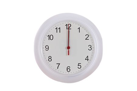 Clock a over white background Stock Photo - 3844860