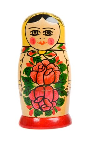 matriosca: One russian doll on a over white background Stock Photo