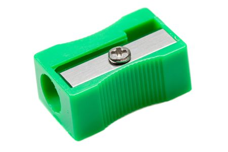 Photo of one pencil-sharpener on a over white background Stock Photo - 3910409