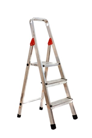 Ladder opened on a over white background