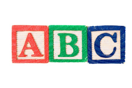 Alphabet learning blocks isolated over white Stock Photo - 3959577