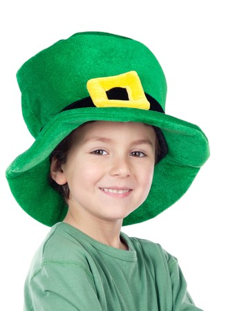 Child whit hat of Saint Patrick's Day celebration Stock Photo - 4170606