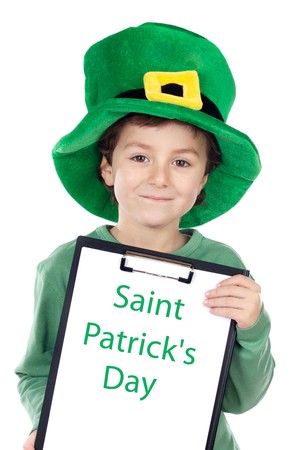 Child whit hat of Saint Patrick's Day celebration Stock Photo - 4215057