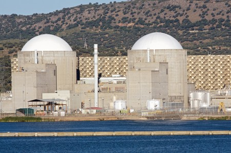 Nuclear power station with two atomic reactors photo