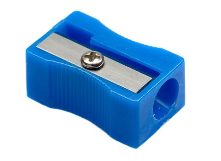 Photo of one pencil-sharpener on a over white background photo