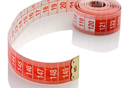 Tape rolled with Shallow Depth of Field a over white background