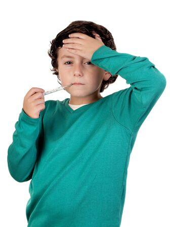 constipated: Term�metro chico adorable en un �pice m�s de fondo blanco