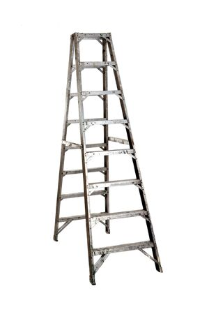 Ladder opened on a over white background photo