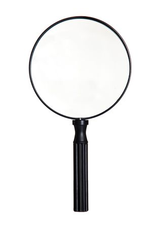 Big magnifier isolated on a white background Stock Photo - 5873059