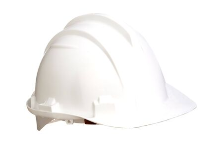 White helmet isolated on a over white background Stock Photo - 6372127