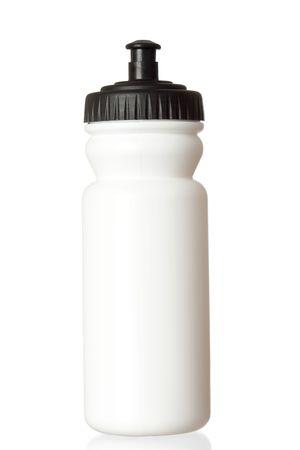 bottled: Bicycle water bottle isolated on white background