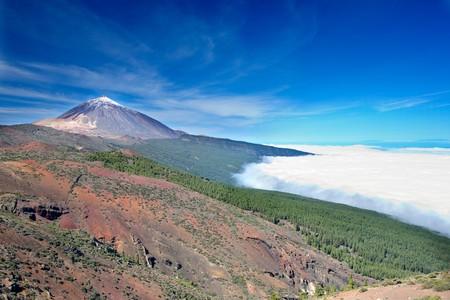 inactive: Nice photo of Teide spanish inactive volcano Stock Photo