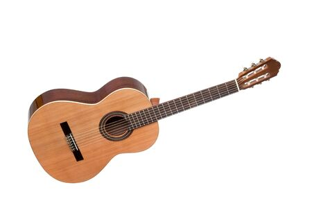 rosewood: Beautiful classical guitar isolated on white background