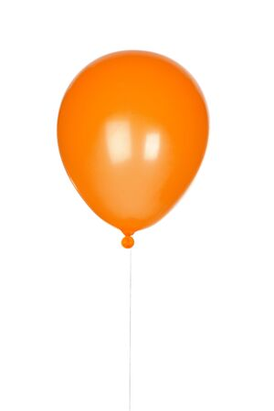 air baloon: Orange balloon inflated isolated on white background Stock Photo