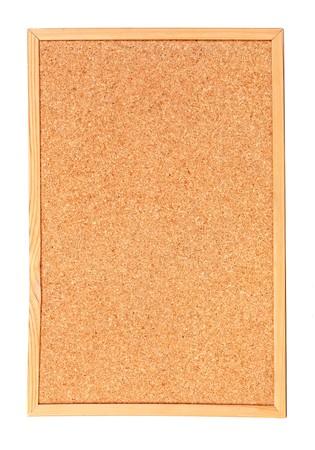 Empty cork billboard isolated on white background photo