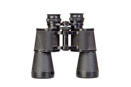 Binoculars in black isolated on a white background  photo