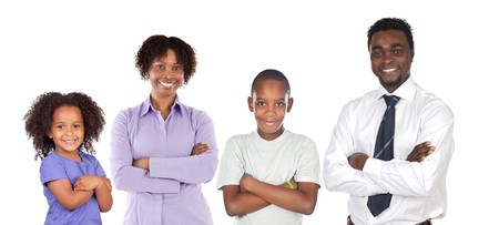 African-American family isolated on white background Stock Photo - 7698223