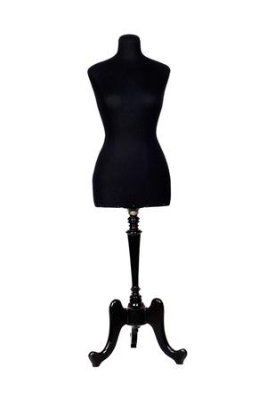 Photo de mannequin noir isolée sur un blanc arrière-plan