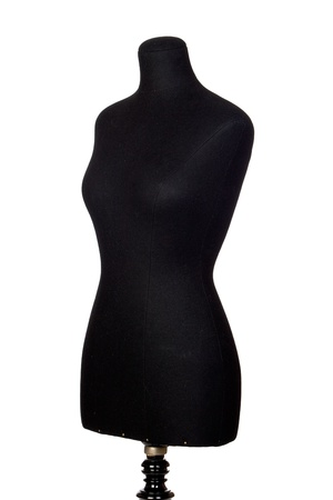 A black mannequin isolated on a over white background photo