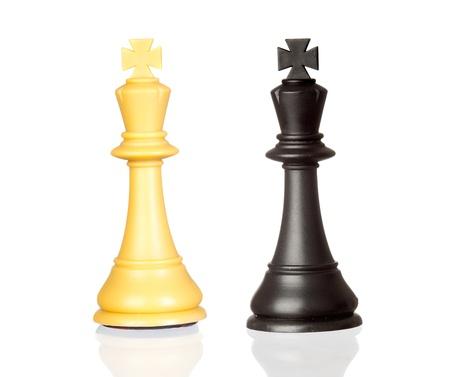 zdradę: Król czerni i bieli samodzielnie na biaÅ'ym tle Zdjęcie Seryjne