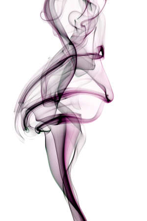 Abstract smoke shapes over a white background photo
