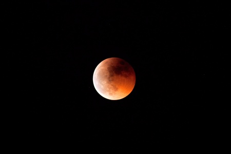 Beautiful red moon during a lunar eclipse photo
