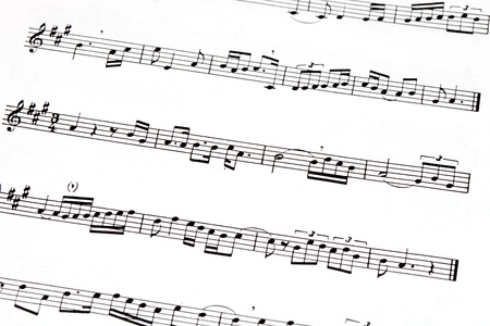 Picture of musical notes in a score Stock Photo - 10491151