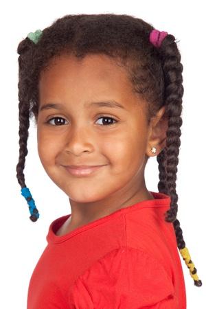 Adorable Afrikaanse kind geïsoleerd op een witte achtergrond