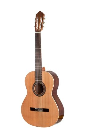 Beautiful classical guitar isolated on white background Stock Photo - 13560895