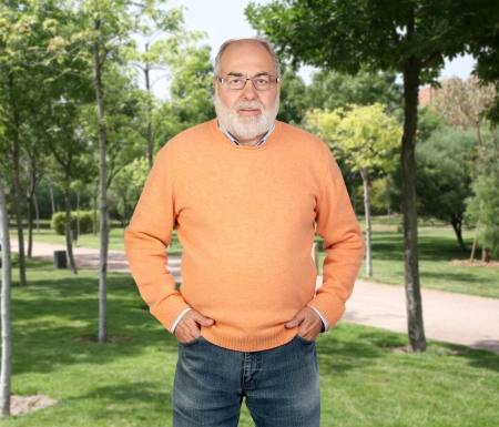 Senior man with freetime in the park